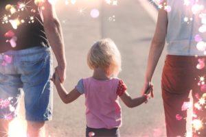 幸せ、愛、家族、満たされた