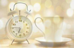何時、起きる、朝