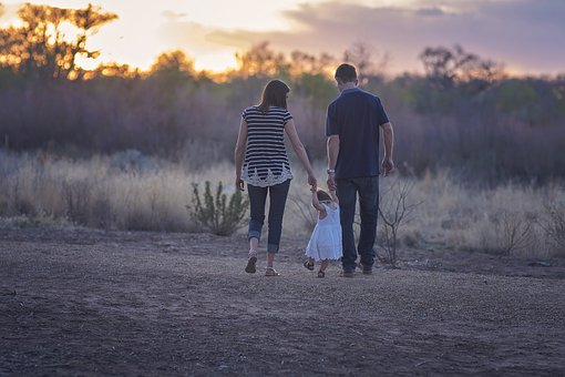幸せな家族、癒される
