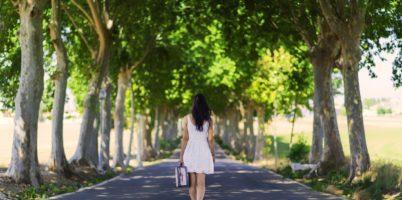 一人で生きる、別離、歩む、人生、女性